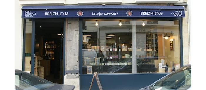 パリ、マレ地区のブレッツ・カフェの食材店 パリ・カンカル・東京